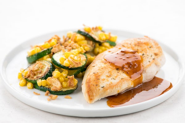 Apple Cider Chicken with Zucchini & Corn