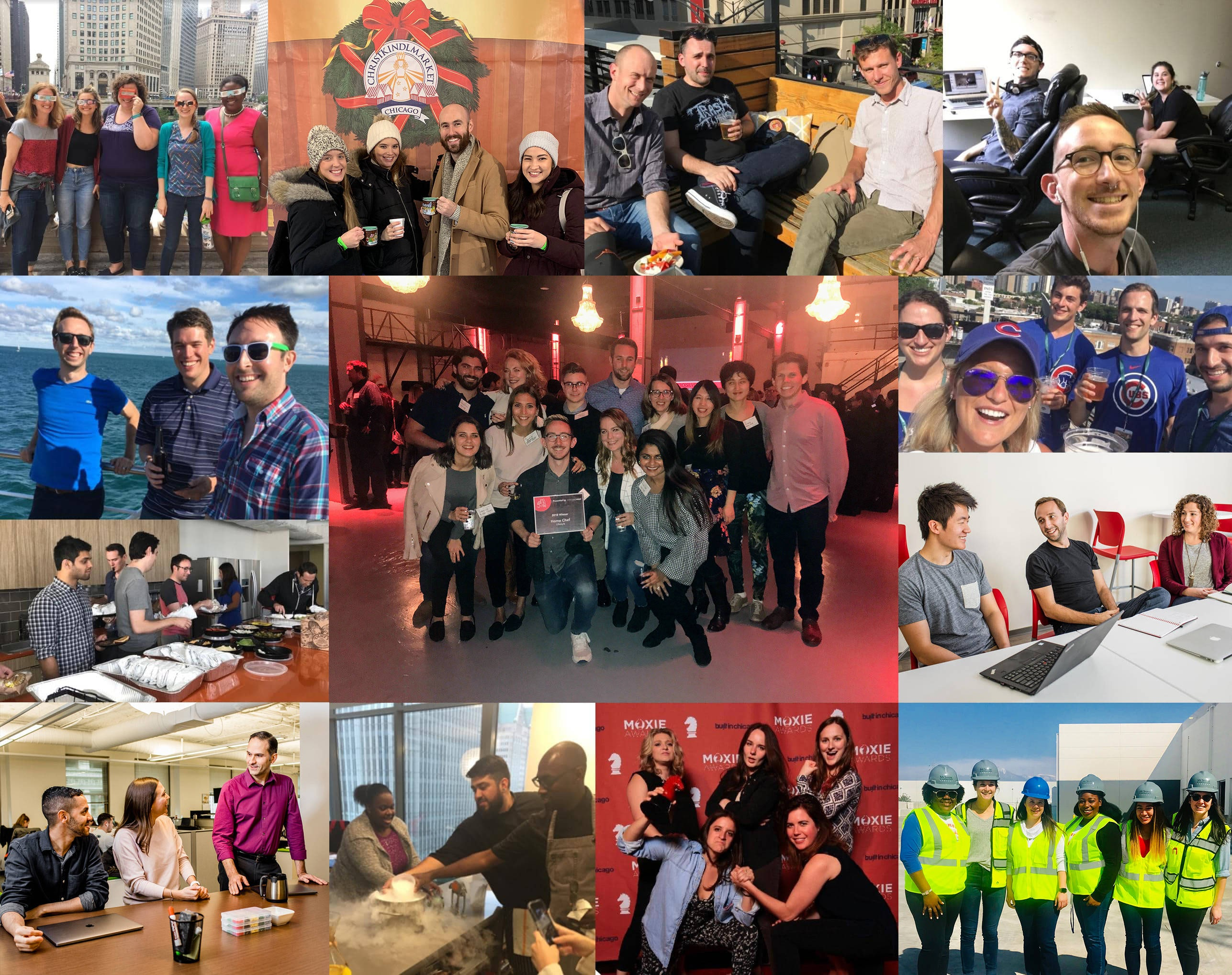 tiled photo montage of HomeChef Staff
