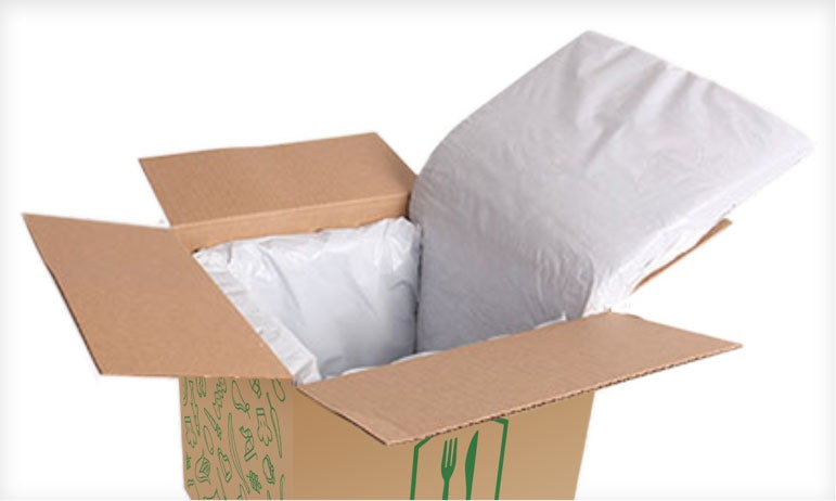 Home Chef box with insulation