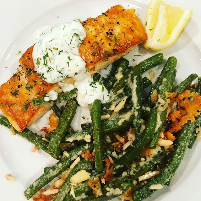 Salmon with Dill Crema
